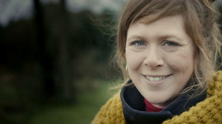 Tine Troch, reporter van 'Iedereen beroemd'. Beeld VRT