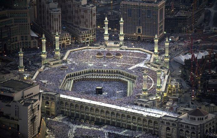 De Grote Moskee in Mekka met in het midden de Kabaa, het centrale heiligdom van de islam.