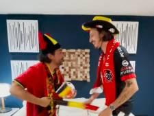 """Avec les conseils de Romeo Elvis: """"l'hymne pas du tout officiel des Diables Rouges"""", signé Pablo Andres"""