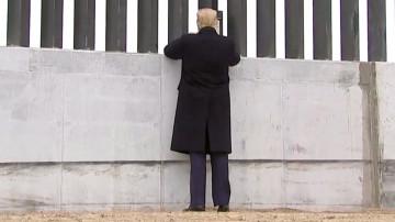 Donald Trump au Texas pour voir l'avancement du mur frontalier.