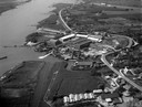 Hardinxveld-Giessendam vanuit de lucht gezien in 1954.
