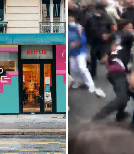 """Violente bagarre à l'ouverture d'un pop-up store """"Squid Game"""" à Paris"""