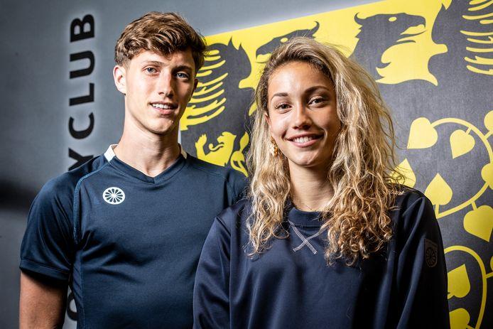 Broer en zus Laz (links) en Noor Omrani staan allebei met HC Den Bosch in de kruisfinales om het landskampioenschap hockey.