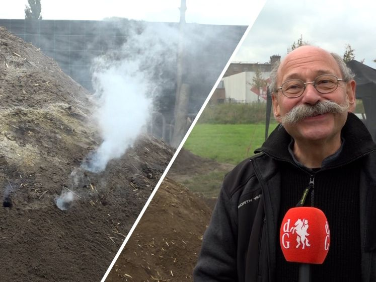 Houtskool maken zoals ze het vroeger deden in Ulft