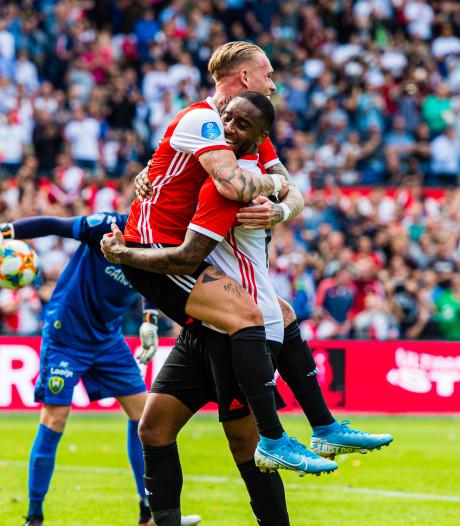 Feyenoord klopt ADO na hete slotfase met twee eigen doelpunten