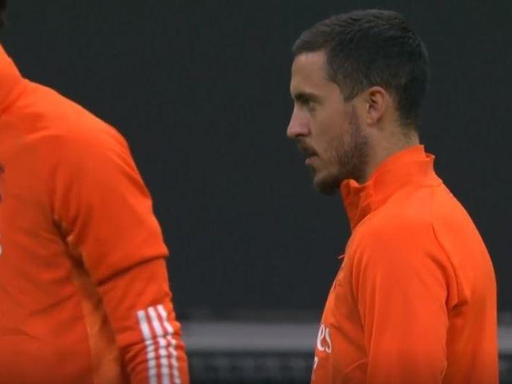 Hazard en Courtois bereiden zich voor op clash met Inter
