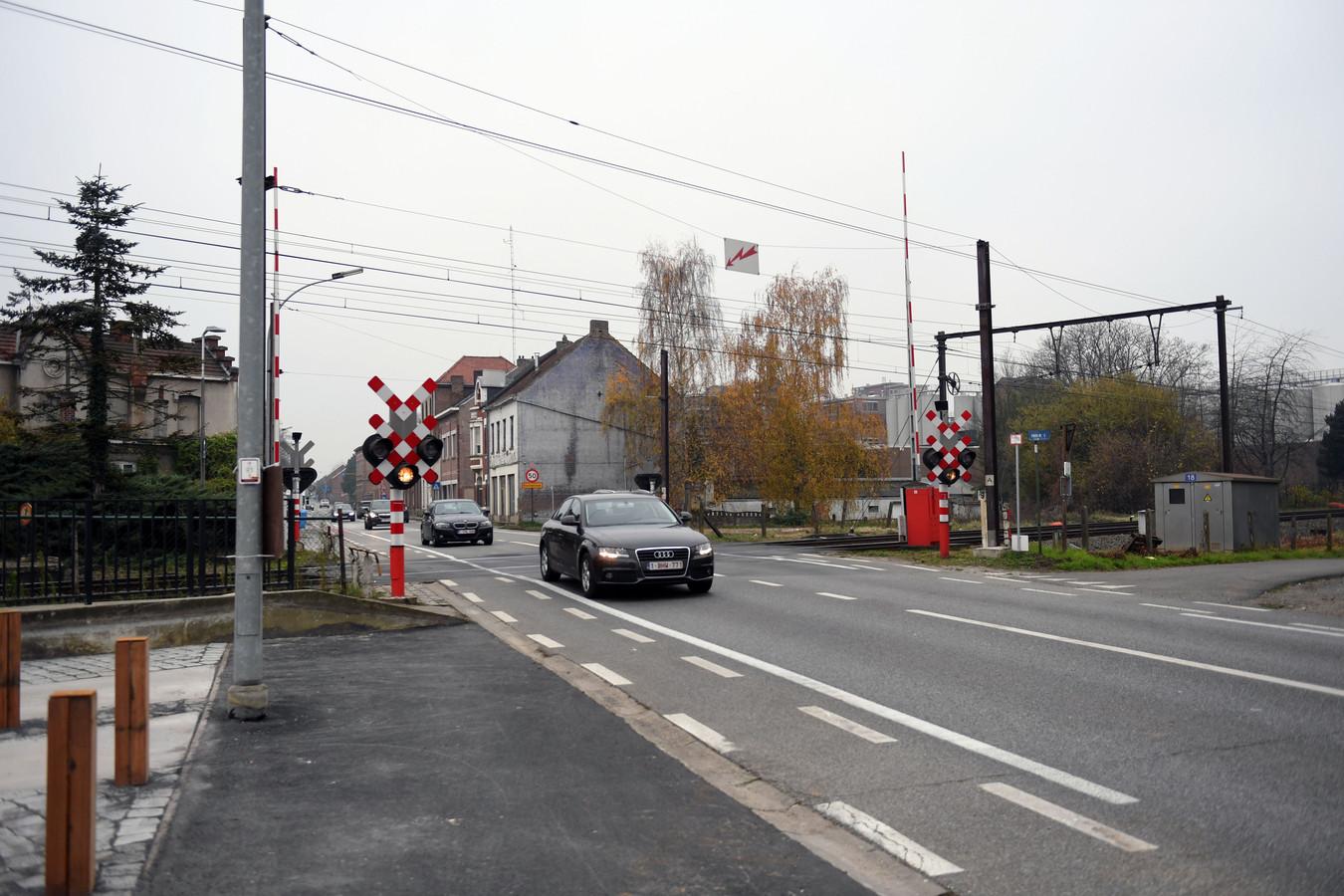 Omgeving station Haacht. Overweg Provinciesteenweg
