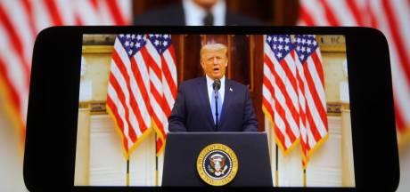 """La chaîne YouTube de Trump sera rétablie quand le """"risque de violence"""" aura baissé"""