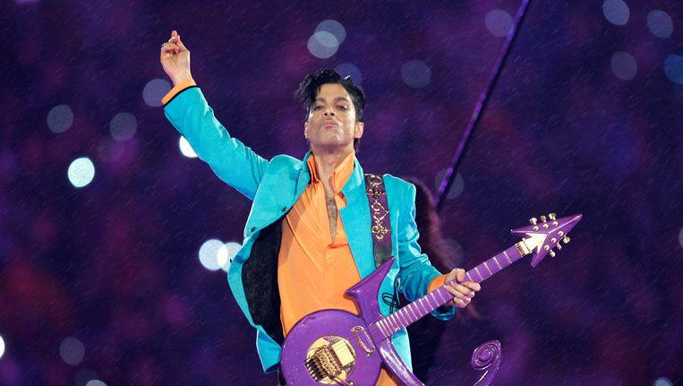 Prince tijdens de Amerikaanse Super Bowl in 2007 Beeld AP