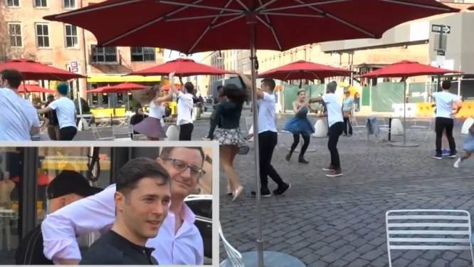 Toen hij naar deze flashmob keek, wist hij niet dat hij zelf de hoofdrol ging spelen