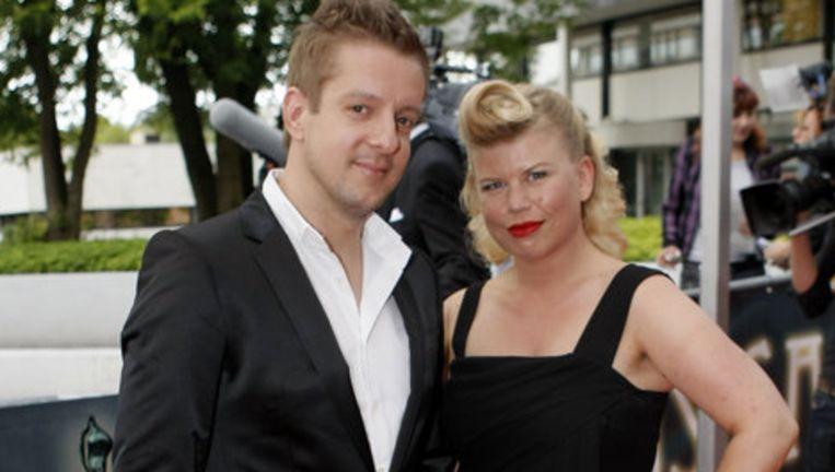 Musicalster Alex Klaassen samen met een vriendin op het Musical Award Gala in Hilversum in 2009. Foto ANP Beeld