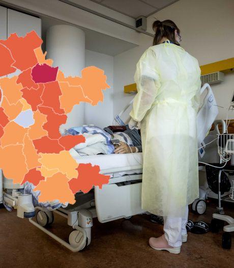 KAART | Coronacijfers fors naar beneden, verschil in Gelderland het grootst