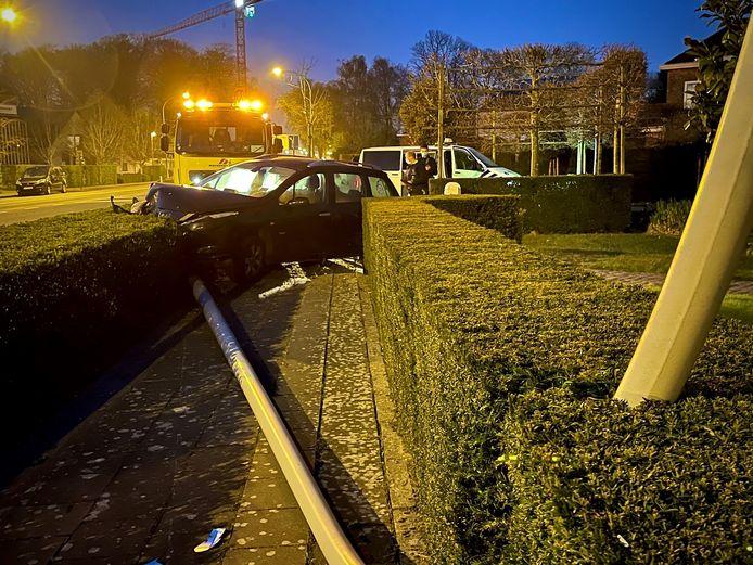 Het ongeval gebeurde langs de Torhoutsesteenweg