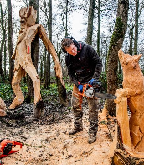 Bergambachtse (11) ontwerpt houten kunstwerk voor in het Loetbos