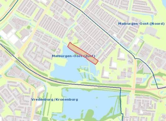 De locatie van de laatste nieuwbouwwoningen in project De Wheme in Arnhem-Zuid.