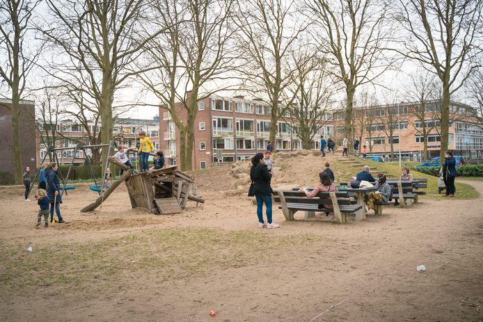 De speeltuin aan de Nobelweg in de Bovenbuurt in Wageningen.