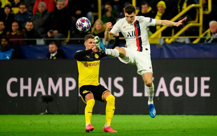 Thomas Meunier face à Thorgan Hazard