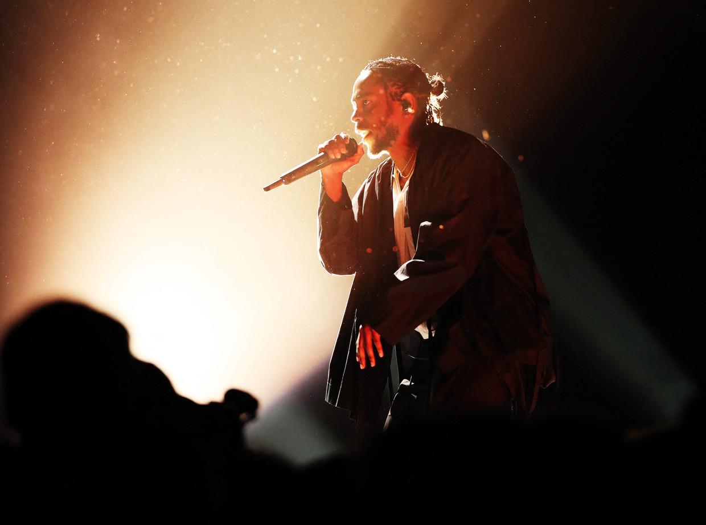 Kendrick Lamar tijdens de uitreiking van de Grammy Awards in 2018.  Beeld Getty Images via AFP