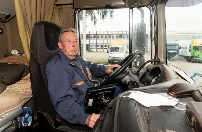 Jaap Martens is 71 jaar, maar nog altijd internationaal vrachtwagenchauffeur.