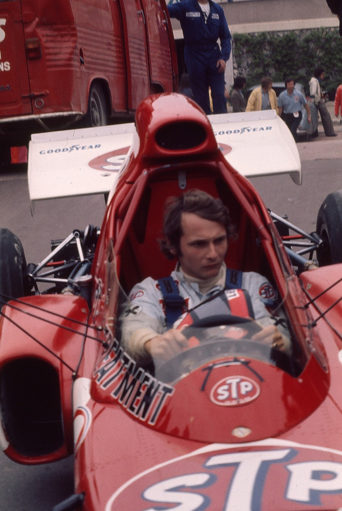 Niki Lauda en 1976, avant son accident.