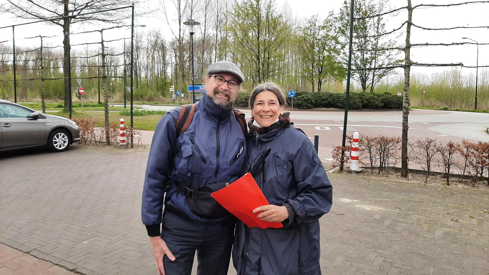 Jan-Willem en Irene Versteegh uit Wassenaar kwamen speciaal naar Boskant voor de Lentetocht van OLAT.