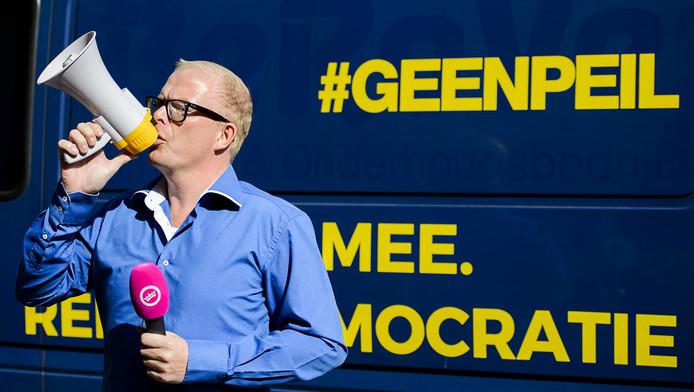 Jan Roos van het comité GeenPeil, dat vorig jaar handtekeningen verzamelde voor een raadgevend referendum.