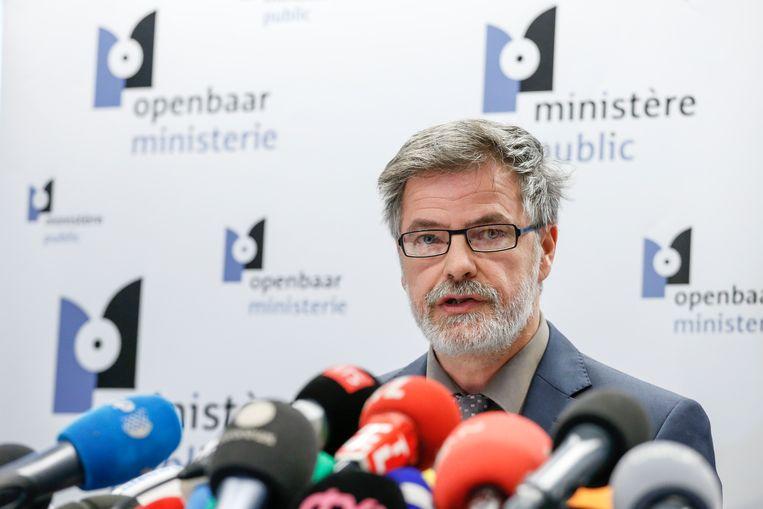 Eric Van der Sijpt, woordvoerder van het federaal parket (archieffoto). Beeld BELGA