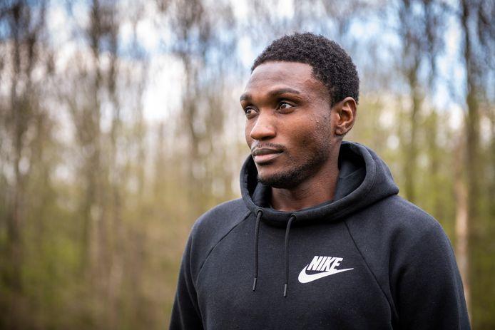 Gianni Kimvwidi, hier in 2019 als speler van HVV'24, voetbalt komend seizoen voor FC Axel.