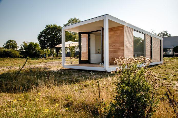 Een tiny house zoals dat in Renesse komt te staan. Wellicht zijn deze ook heel geschikt om in De Peel gebouwd te worden. © Zeeuwland
