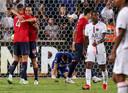 Lille wint de Trophée des Champions van Paris Saint-Germain. Rechts treurt debutant Georginio Wijnaldum.