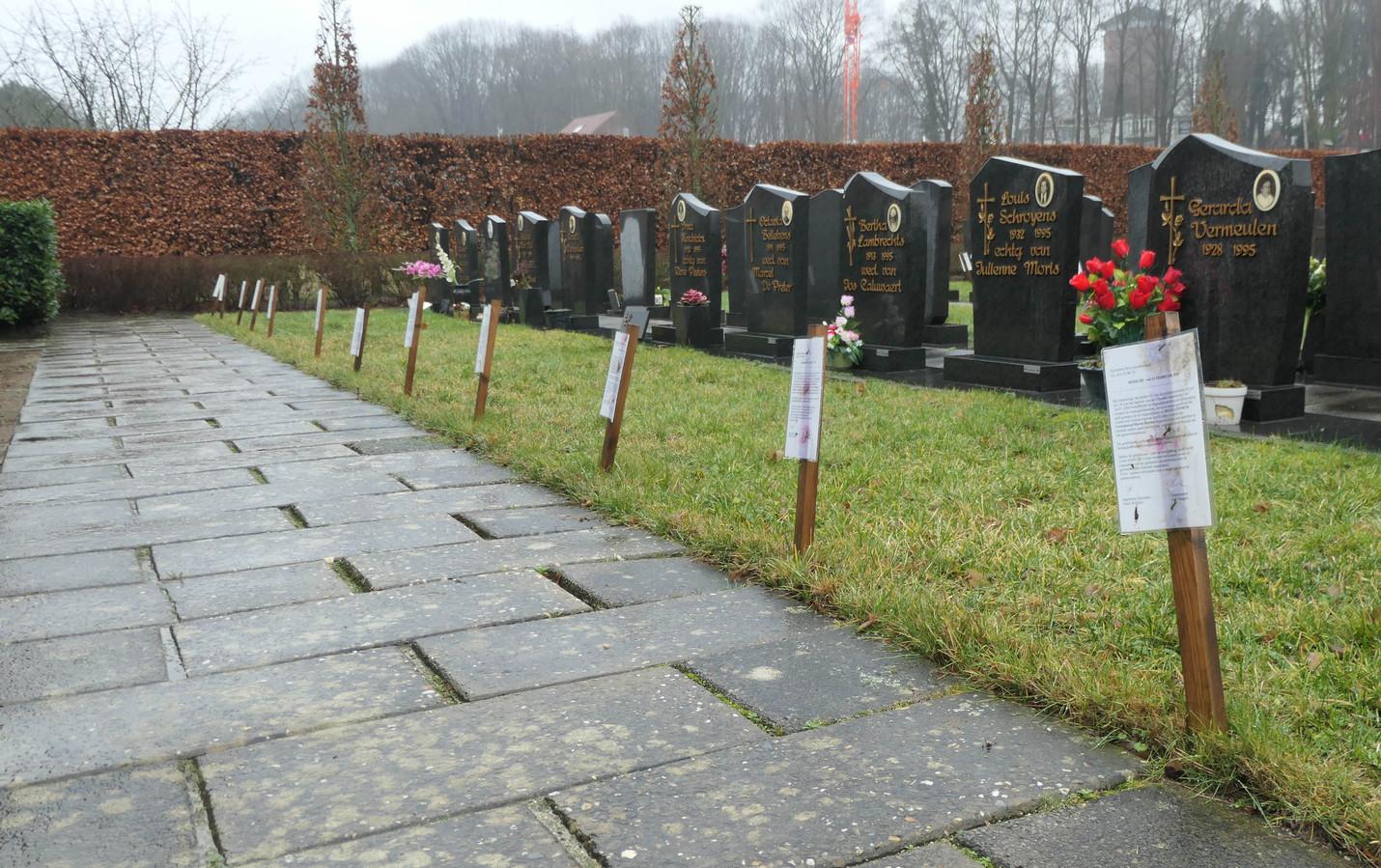 Een archiefbeeld van het kerkhof in Heist-Centrum nog voor de ontgravingen
