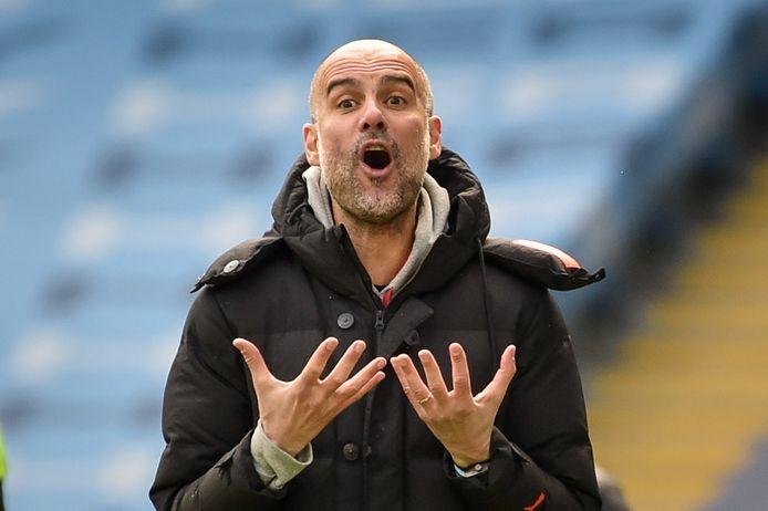 Pep Guardiola koerst af op zijn derde landstitel met Manchester City, maar in de Champions League is het nog wachten op succes.