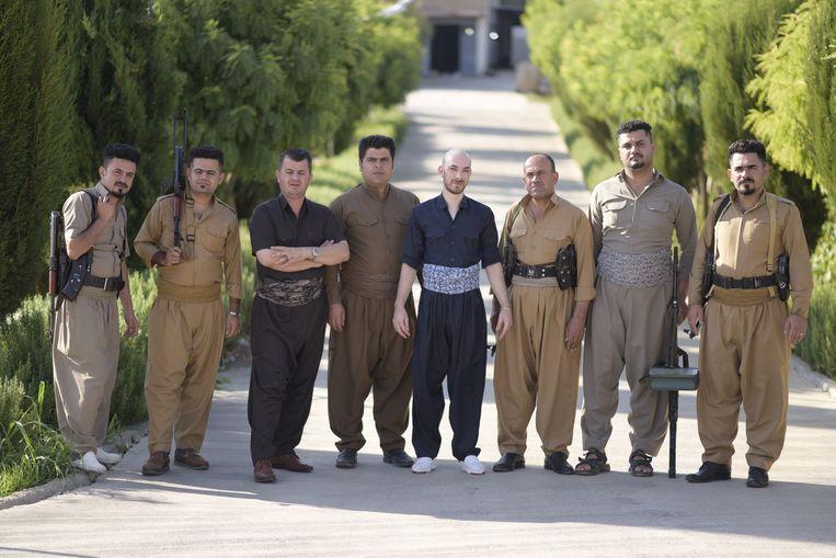 De Koerdische Belg Baram Maro. Beeld Barze Rasul