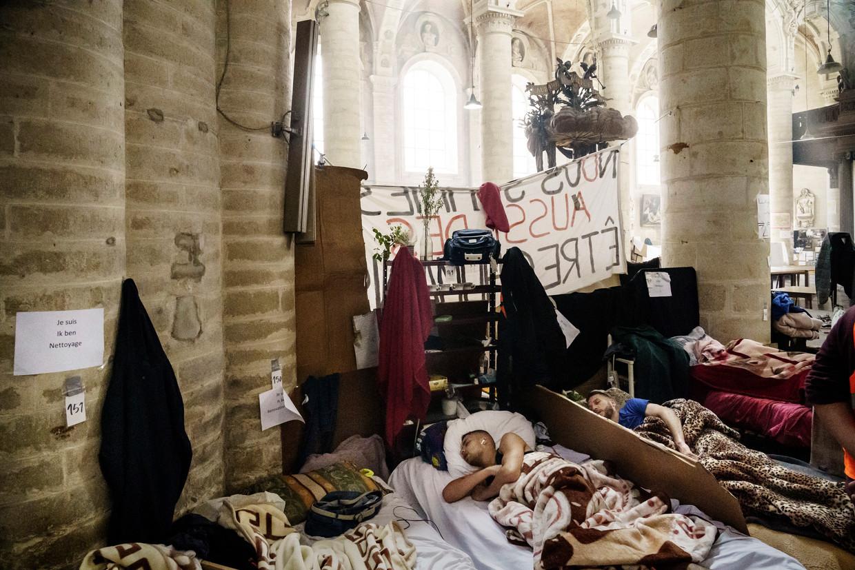 Hongerstakers op de rand van uitputting. Beeld © Eric de Mildt