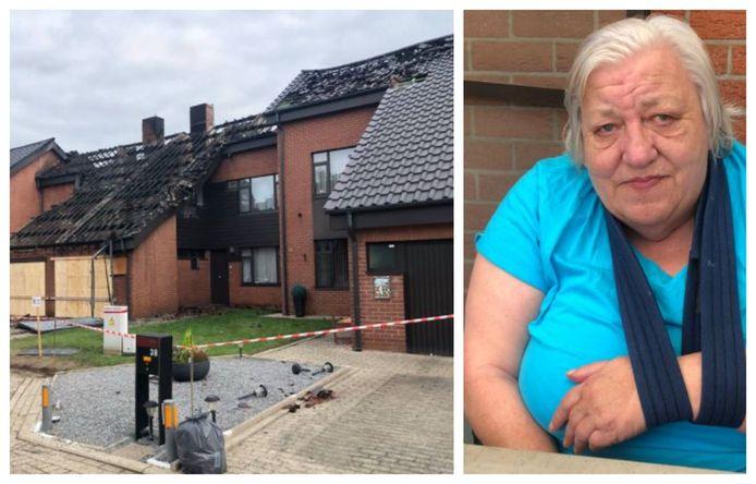 Een brand heeft op het Parelserf (l.) veel schade aangericht. Ook het huis van Anny (r.) is onbewoonbaar.