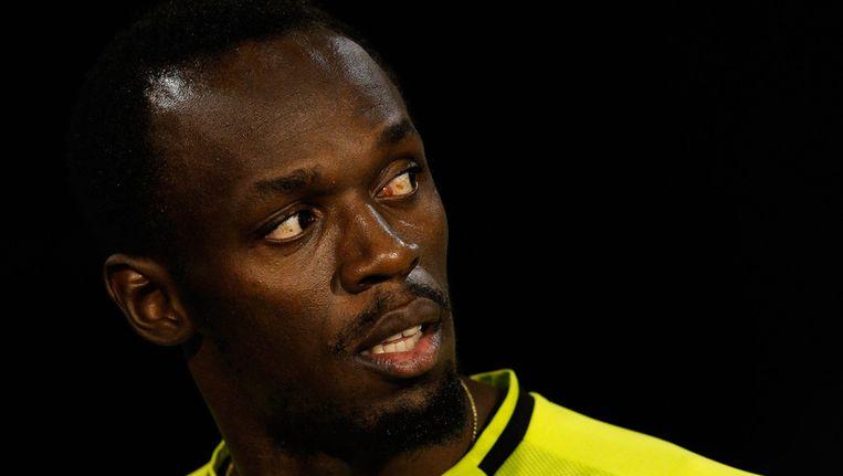 Usain Bolt won de 100m in een scherpe 9.80. Beeld GETTY