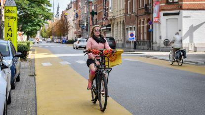 Fietssuggestiestroken voor Kerkstraat.