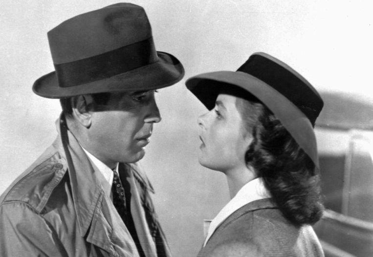 Humphrey Bogart en Ingrid Bergman in Casablanca. Beeld AP