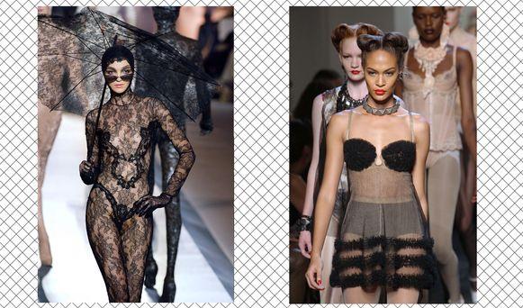Modellen in een niemendalletje op de catwalk.