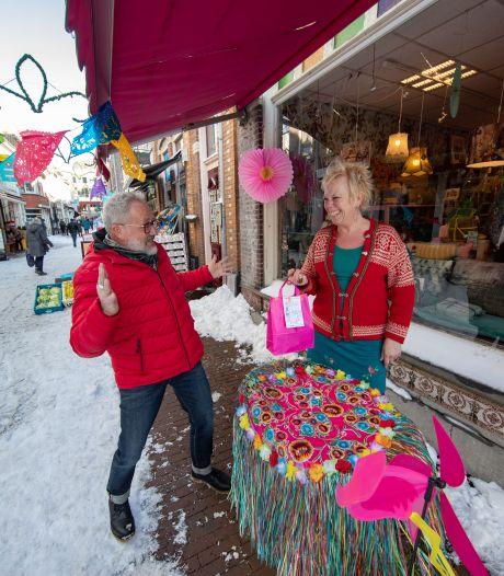 Glibberen en glijden tijdens eerste 'bestel en haal'-dag in Kampen