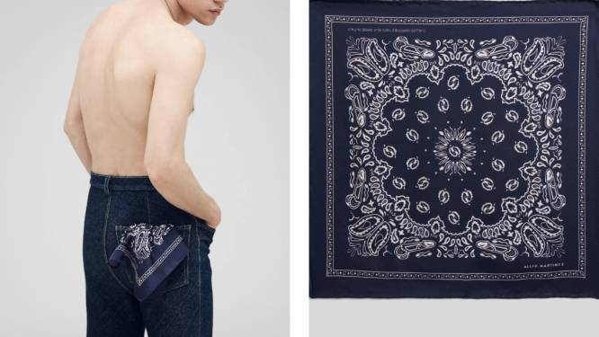 Jonge designer brengt met 'Le Cockachief' ode aan geheime zakdoekencode uit de gay scene van de jaren zeventig