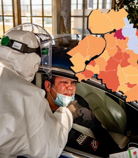 KAART | Enorme stijging in Gelderland, 'zorgenkindje' Zwartewaterland boekt vervelend record