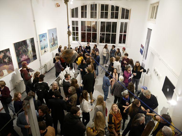 De opening van de eerste expositie, november 2018. Beeld