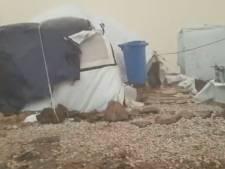 Les images poignantes du camp de réfugiés de Lesbos qui fait face aux conditions climatiques dantesques