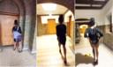Op de video is te zien hoe een oud-medewerkster door De Inktpot loopt en seks heeft in een kantoorruimte.