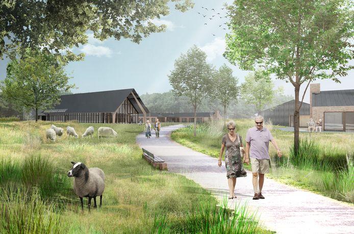 BrabantZorg gaat de Nieuwe Hoeven in Schaijk slopen en op het terrein nieuwbouw plegen. Impressie van hoe het eruit gaat zien