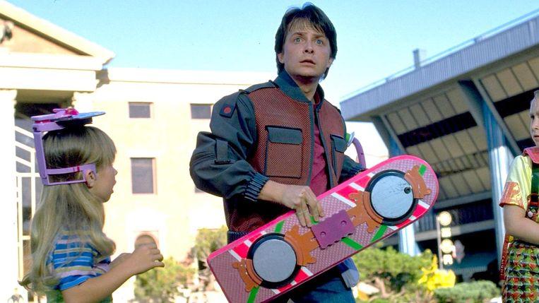Het beroemde hoverboard uit de Back to the futurefilms. Beeld Back to the future