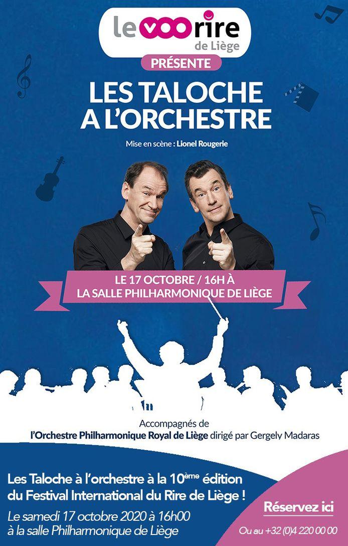 Les Frères Taloche seront accompagnés, sur scène, par 70 musiciens de l'Orchestre philharmonique de Liège.