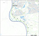 Het stuk dijk bij Zutphen dat versterkt moet worden.