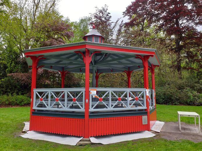 De kiosk van Maria-ter-Heide is weer in ere hersteld en zal meer gebruikt worden.
